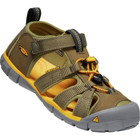 Keen Seacamp II CNX Sandals Youth military olive/saffron
